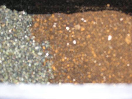 底床に塩酸処理した大磯
