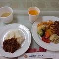 写真: お昼ごはん。牛すじのトマト...