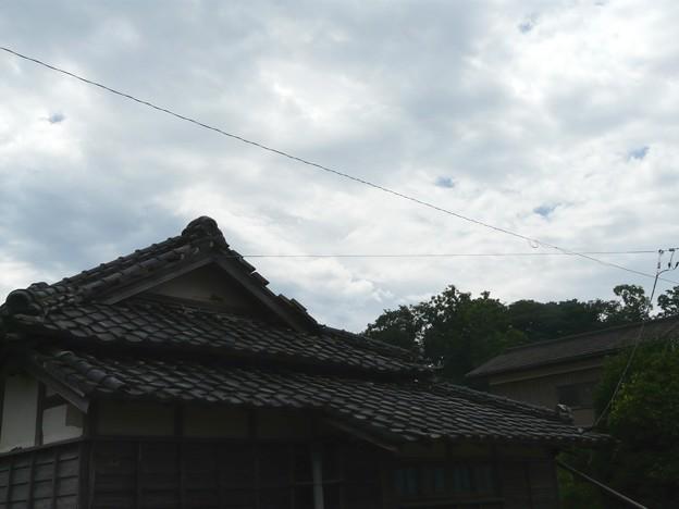 なつかしい瓦屋根の家