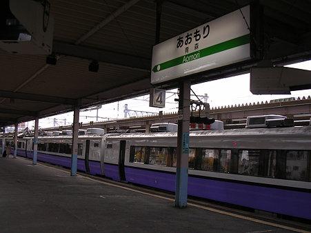 青森駅ホームと白鳥