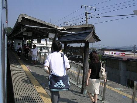 韮崎駅ホーム