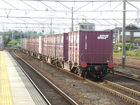 EF66-124牽引貨物後尾