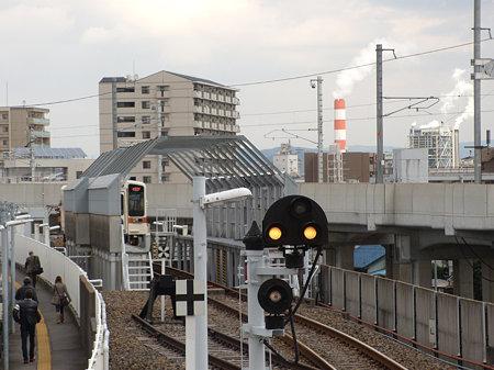城北線勝川駅先の検査場