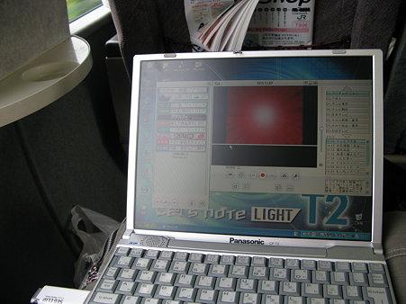 2009.07.18 列車内でUSBワンセグチューナー