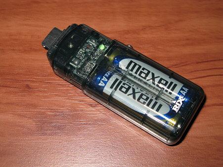 乾電池式充電器「RX-JUK472F」(2/3)