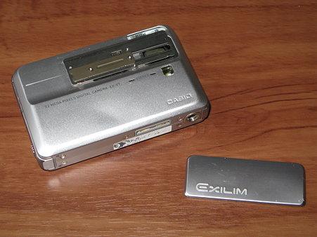 2009.11.01 CASIO EXILIM EX-V7 スライド部分 自己修理(2/7)