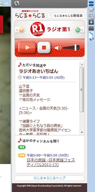 写真: Operaパネル:NHKラジオ「らじる☆らじる」(拡大)