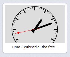 Operaスピードダイヤル・エクステンション:Friendly Clock Speed Dial Extension - Analog