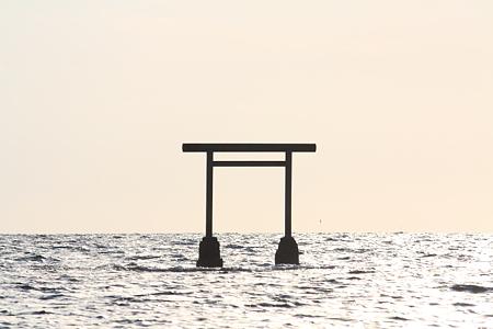 海に浮かぶ鳥居@能登半島