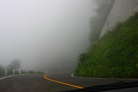 視界不良  白山スーパー林道