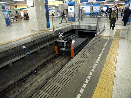 車止め(小田急新宿駅)