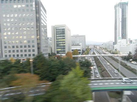大阪モノレールからの車窓