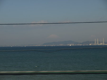 新宿さざなみ号の車窓(竹岡→浜金谷間)