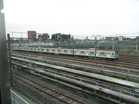 常磐線の車庫