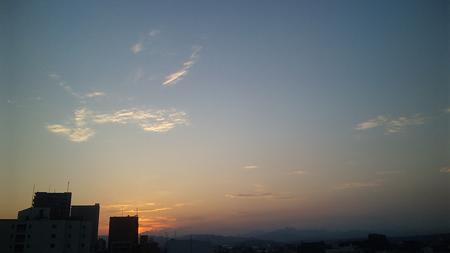 八王子の夕方(8/27)