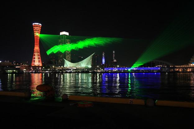 美しいグリーン光