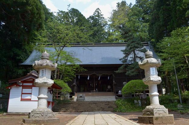 写真: 河口浅間神社・拝殿
