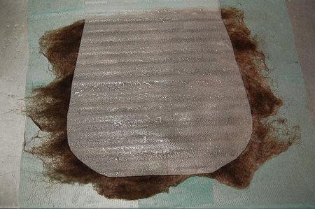 ハンドメイドフェルトでバッグを作る 羊毛フェルト1