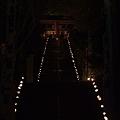 写真: 徳満寺 参道 地蔵まつり 竹灯篭