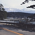 雪を被った鳥海山