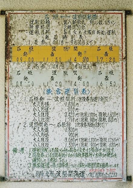 波照間海運 時刻表