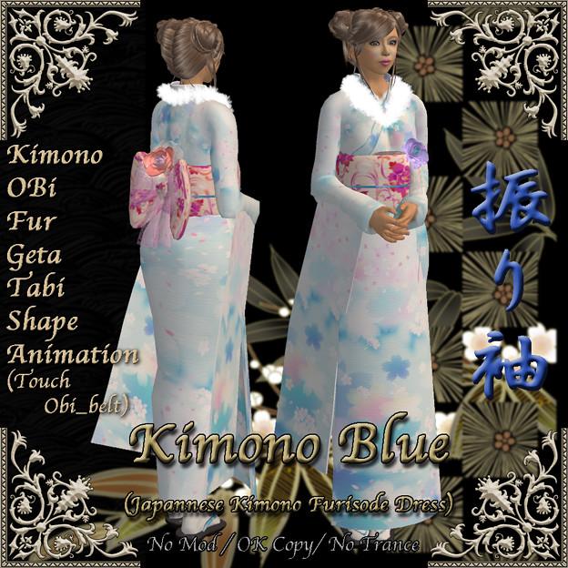 *Miroku*Kimono Blue