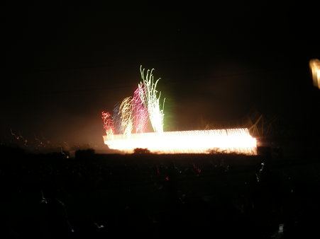 長生橋のナイアガラ大瀑布
