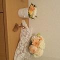 写真: 玄関にお花が来たよ(^o^...