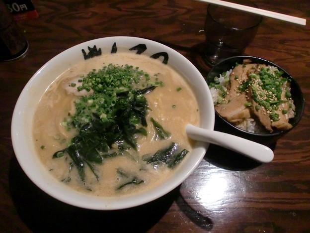 Photos: がんてつ 味噌ラーメン+チャーシュー丼