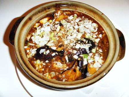 麻婆茄子の土鍋ご飯