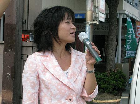 総選挙翌日 近畿比例候補・瀬戸恵子のお礼