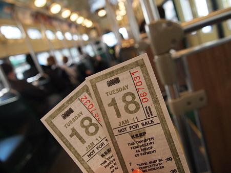 ミュニメトロのチケット