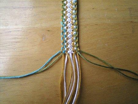 七宝編みの編み方1