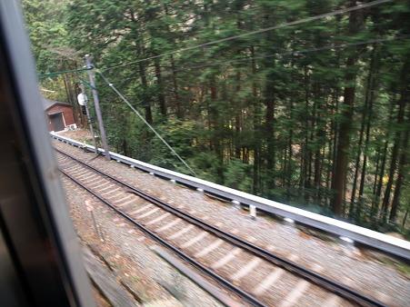 箱根登山電車の車窓(塔ノ沢駅→大平台駅)9