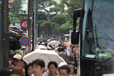 2009.06.13 長谷寺 参道 日傘