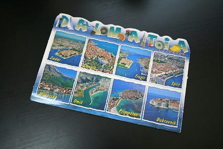 2011.01.04 机 クロアチア・ダルマチアからのカード