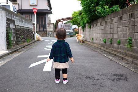 2011.05.23 ご近所散歩 犬と姫