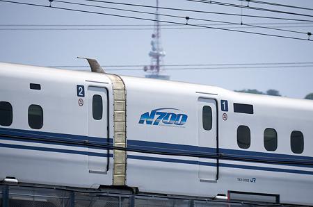 湘南平と新幹線
