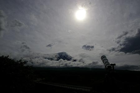 金星日面通過と富士山