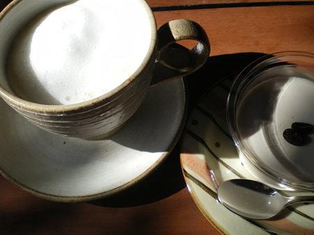 カフェオレ&白いコーヒープリン@焙煎屋さん