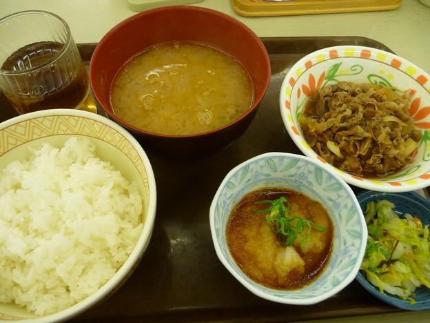 とん汁おろしポン酢牛皿定食1