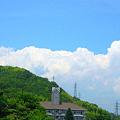 梅雨の晴れ間、竜王山に雲の峯