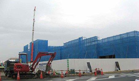 バロー市橋店(Aゾーン) (Bゾーン)2009年10月5日 開業予定で建設中 2-210726-1