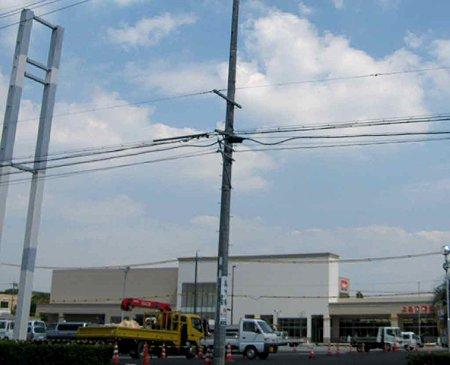 バロー市橋店(Aゾーン) (Bゾーン)2009年10月5日 開業予定で建設中 2-210827-1