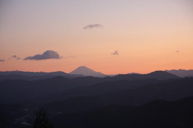 猪の平展望台より富士山
