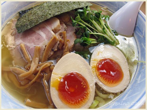 Photos: あぢとみ食堂@埼玉県比企郡川島町_塩太麺チャーシュートッピング_001