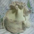Photos: 新作♪ミニ巾着。アイボリー系
