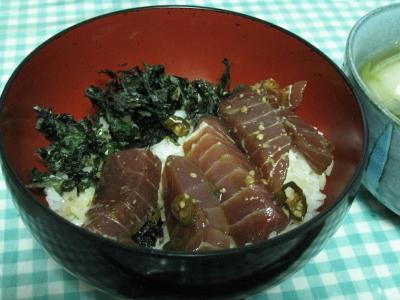 三升漬け仕込みのマグロのヅケ丼