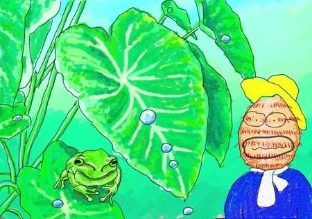 サトイモの葉