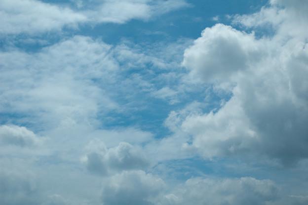 雲、なんとなくスーパーマン?